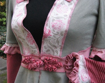 rose & ash frock / recycled cotton jacket
