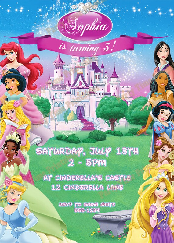 Disney Princess Party Invites was great invitation template