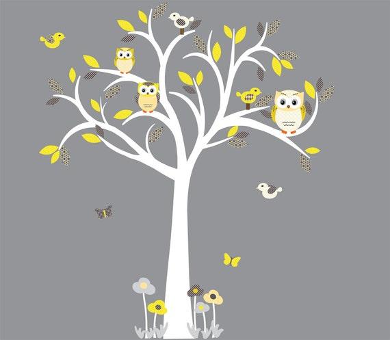 Schablone Wand Baum Aufkleber Eule Eule Baum Wand