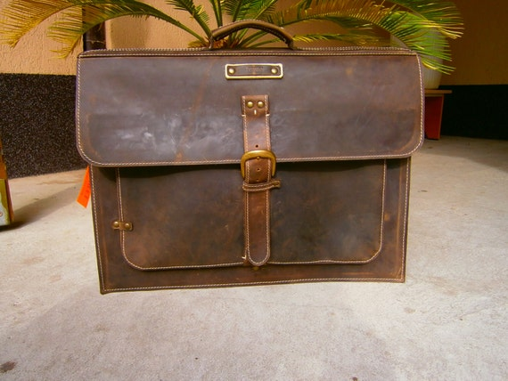 Large 17inch Laptop Bag, Office Laptop Briefcase, Vintage Style17 inch Laptop Briefcase, Handmade messenger bag