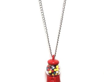 Retro Gumball Machine Necklace