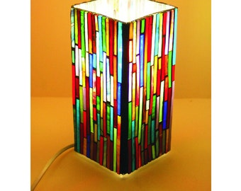 Handmade colorful mosaic table lamp