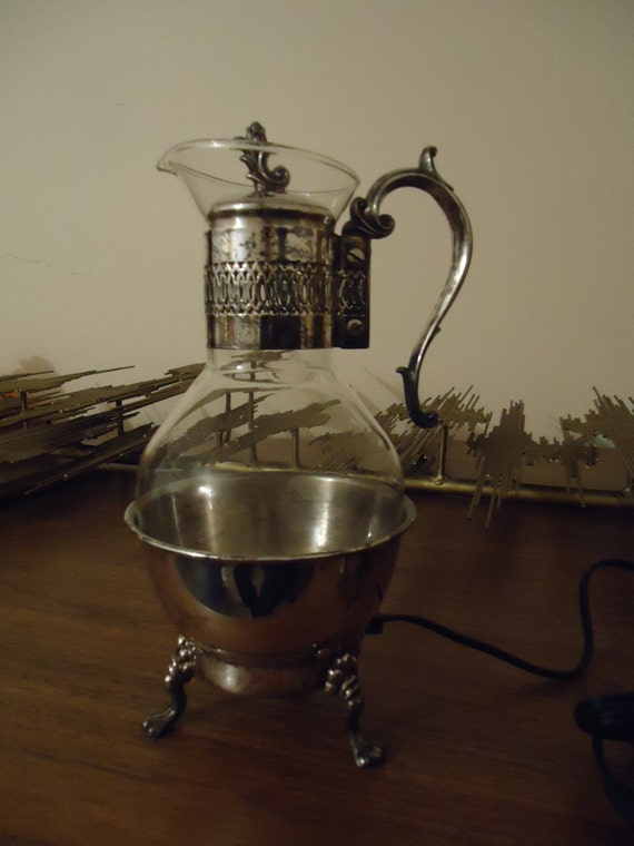 Vintage F B Rogers Silverplate Electric Coffee By