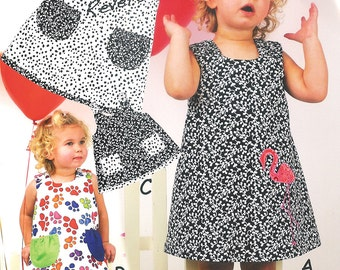 Pattern - Jump-N Reversible Girl's Jumper / Dress or Tunic Paper Sewing Pattern by Olive Ann Designs (OAD57)