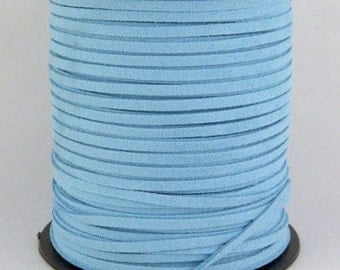 Light Blue Faux Suede Cord 20 Feet