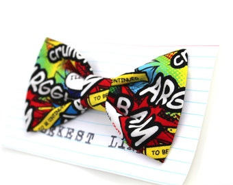 Comic Bow Tie Cartoon Primary Colors Fathers Day