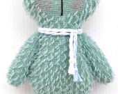 Mint  Mohair TeddyBear for Baby Gift   available to ship - LittleBearCompany