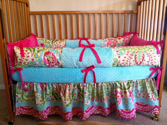 Items Similar To Kumari Garden Baby Girl Crib Bedding For