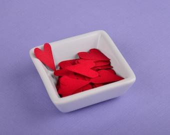 Dark Red Heart Confetti - 50 pcs