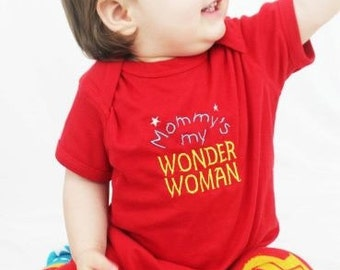 Mommys My Wonder Woman Outfit and Baby Leg Warmers Mothers Day