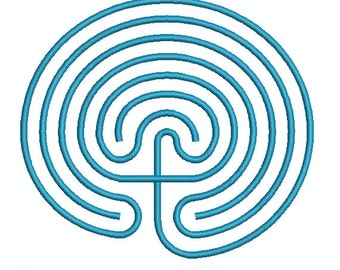 Machine Embroidery Design Instant Download - Labyrinth 1