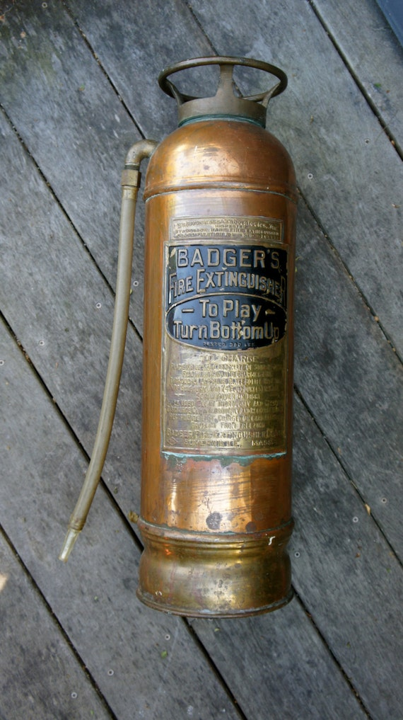 Antique badger fire extinguisher