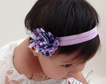 Flower Headband, Baby Headband, Purple Headband, Headbands For Babies, Flower Headband, Newborn Headband, Headband for Girls
