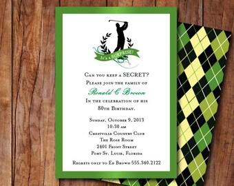 Golf Themed Invitation