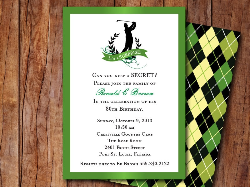 Golf Themed Invitation – Golf Party Invites