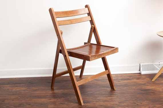 vintage wood folding chair wooden antique chair by