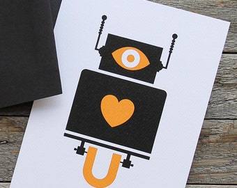 I Love You Robot - Greeting Card