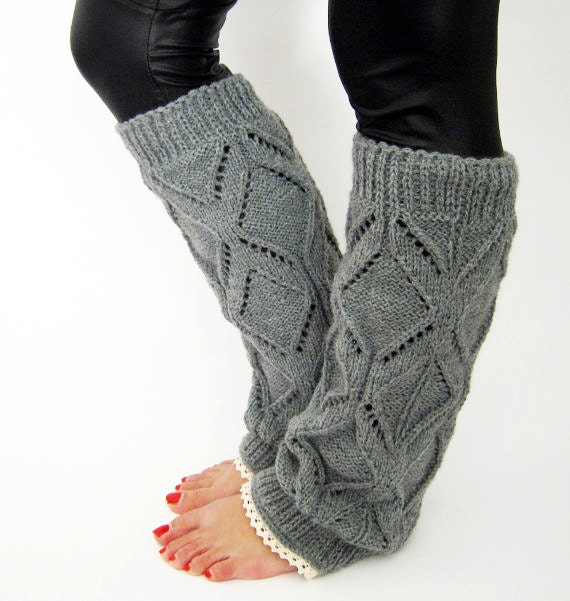 Knitting Patterns For Dog Leg Warmers : Lacy knitted legwarmers spring gift lace leg warmers Boot