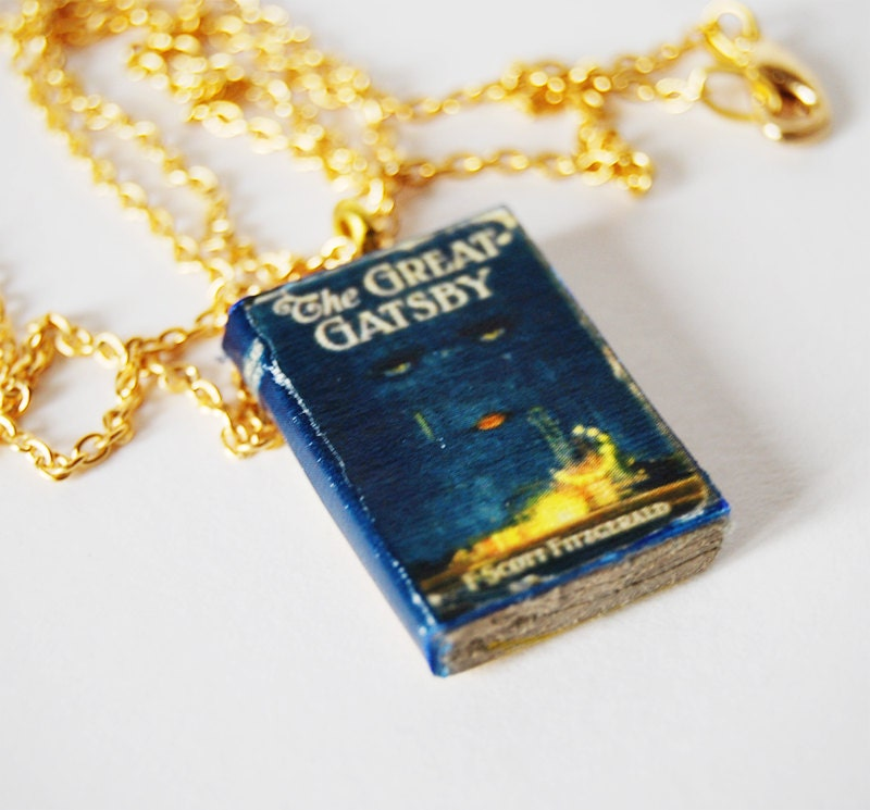 the great gatsby s mini book necklace by bunnyhell on etsy