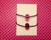 Hair Tie Bracelets, Set of 2 Hair Ties, Ponytail holders,  Double as Bracelets and Stackable