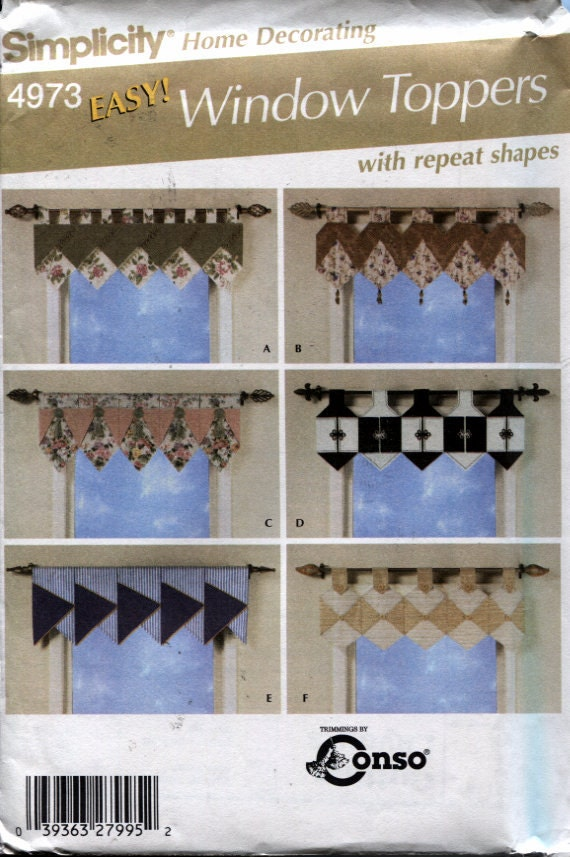Simplicity 4973 Window Treatments Easy Sewing Patterns
