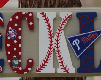Phillies Plaque - Customize Name, Colors and Players. All teams and ideas welcome!