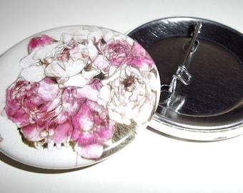 Flower illustration badge