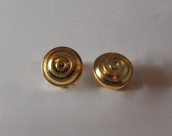 Vintage Heavy Gold Plated Earrings 1960s Reduced