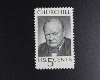 1264 Winston Churchill Vintage Stamps (100)