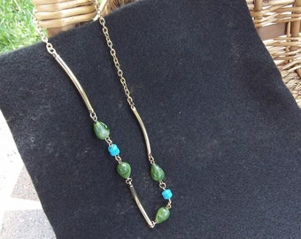 Sarah Coventry Oriental Mood Necklace 8726  Vintage, Green, Golden