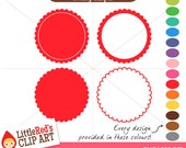 Scallop Shape Clip Art - 60 graphics - personal and commercial use