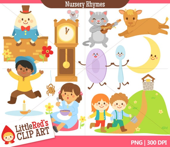 Nursery Rhyme Clip Art and Lineart - for personal and commercial use