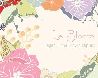 Flower digital clip art - La Bloom