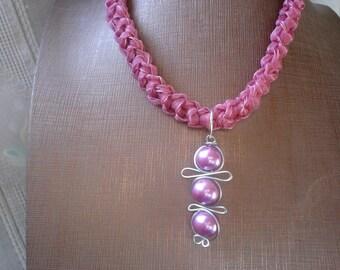 Crochet necklace, necklace textile, fiber art, jewelry textiles, macramé necklace