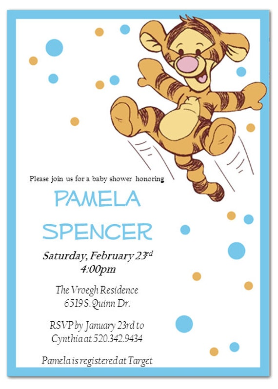 Tigger Baby Shower Invitations was awesome invitation template