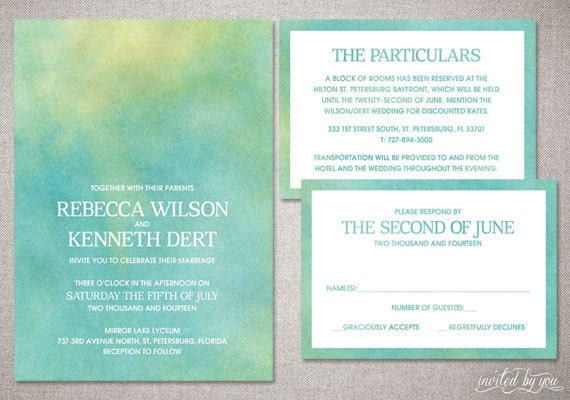 Watercolor Wedding Invitations Diy guitarreviewsco