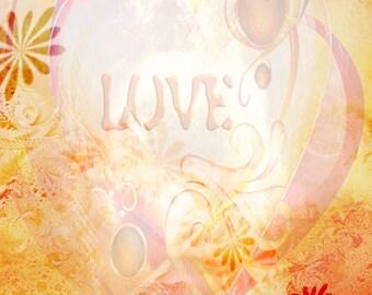 Printable Scrapbook Page, 8 x 10  JPG Download,Love, Red, Valentines, Insert, Paper, Digital Art