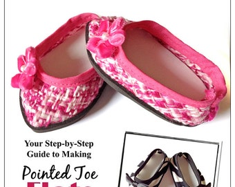 Pixie Faire Miche Designs Pointed Toe Flats 18 inch Doll Shoe Pattern for American Girl Dolls - PDF