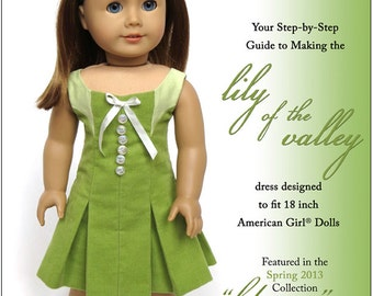 Pixie Faire Melody Valerie Couture Lily of the Valley Dress Doll Clothes Pattern for 18 inch American Girl Dolls - PDF