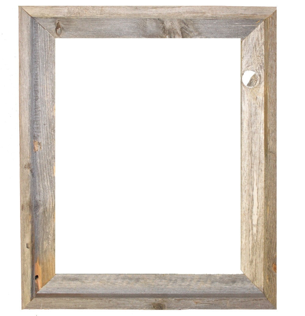 16x20 2 wide barnwood reclaimed wood open frame no glass or back