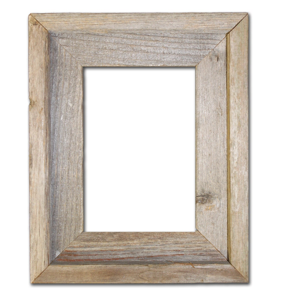 5x7 Picture Frames Barnwood Reclaimed Wood by RusticDecorFrames