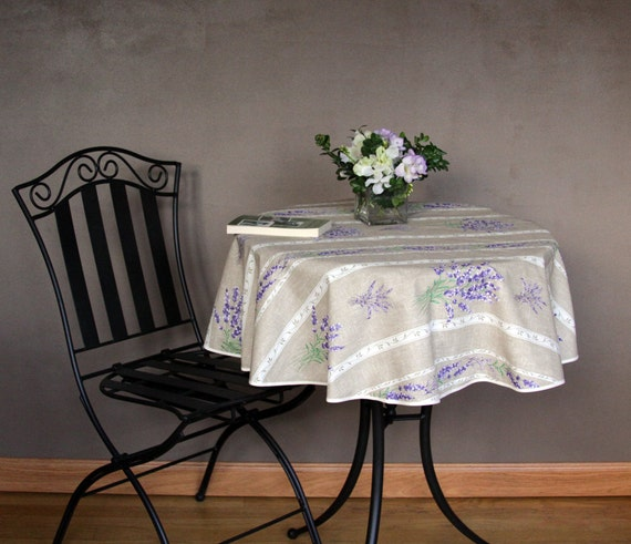 Round Tablecloth 42 To 62 Provence Lavender By