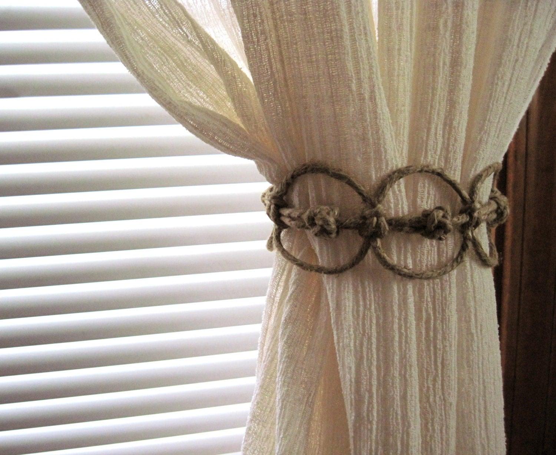 Handmade Natural Thick Hemp Adjustable Curtain Tie Back