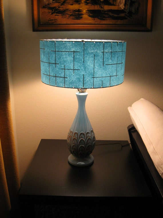 made to order mid century vintage style fiberglass lamp shade. Black Bedroom Furniture Sets. Home Design Ideas