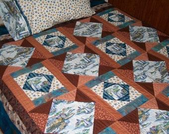 Sailing quilt | Etsy : sailing quilt - Adamdwight.com