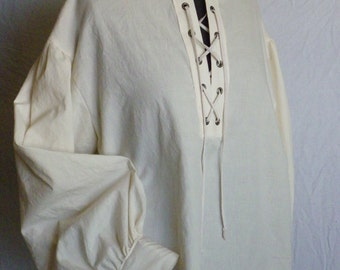 Men's Basic Shirt, Renaissance, Pirate, Peasant, Colonial, Made-to-Measure