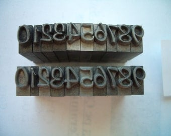 EQ6 - Murry Hill 24 pt NUMBERS Letterpress Sets