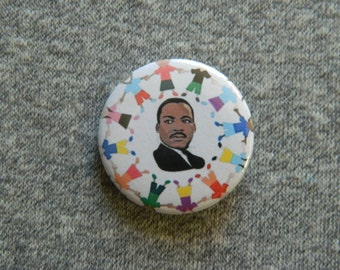 Martin luther king Jr.Button/Magnet/Bottle Opener