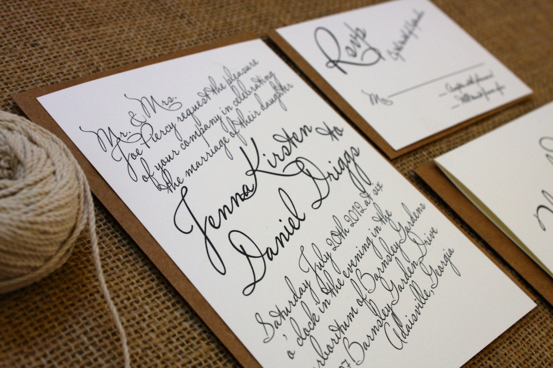 Wedding Invites Rustic: Rustic Printable Wedding Invitation Suite By DiamondAndRust
