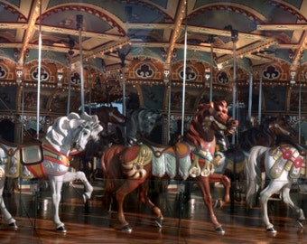 Carousel wall decal etsy for Carousel wall mural